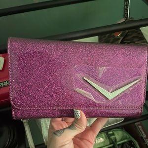 Lux de Ville large wallet electric purple sparkle